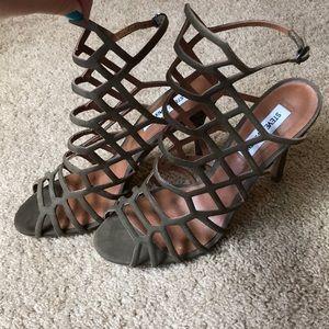 Steve Madden 'Slithur' Caged Heels in Army Green